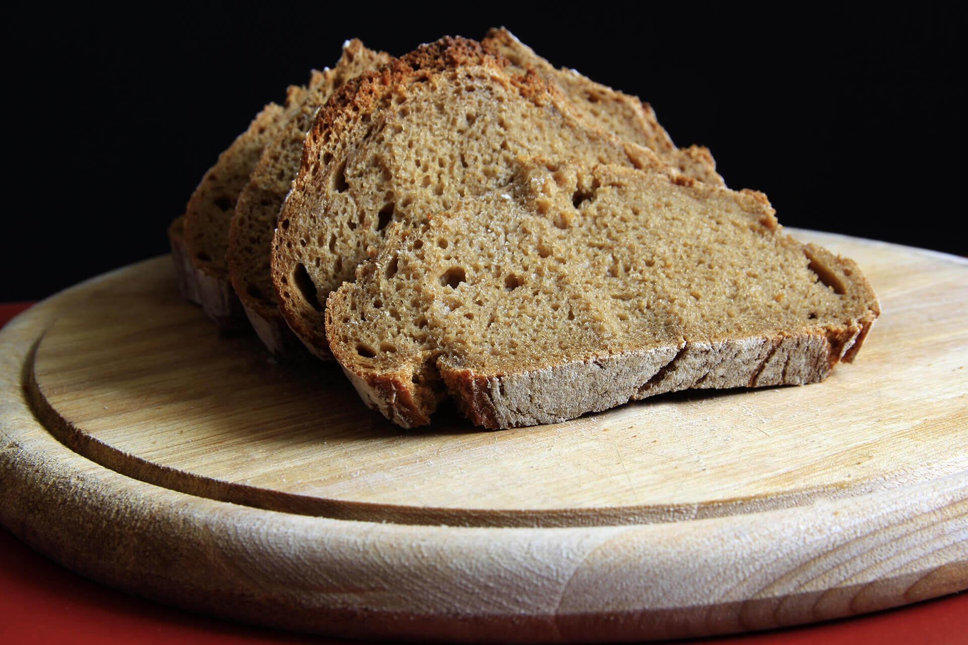 Chleb biszkoptowy z mąką migdałową i słonecznikową