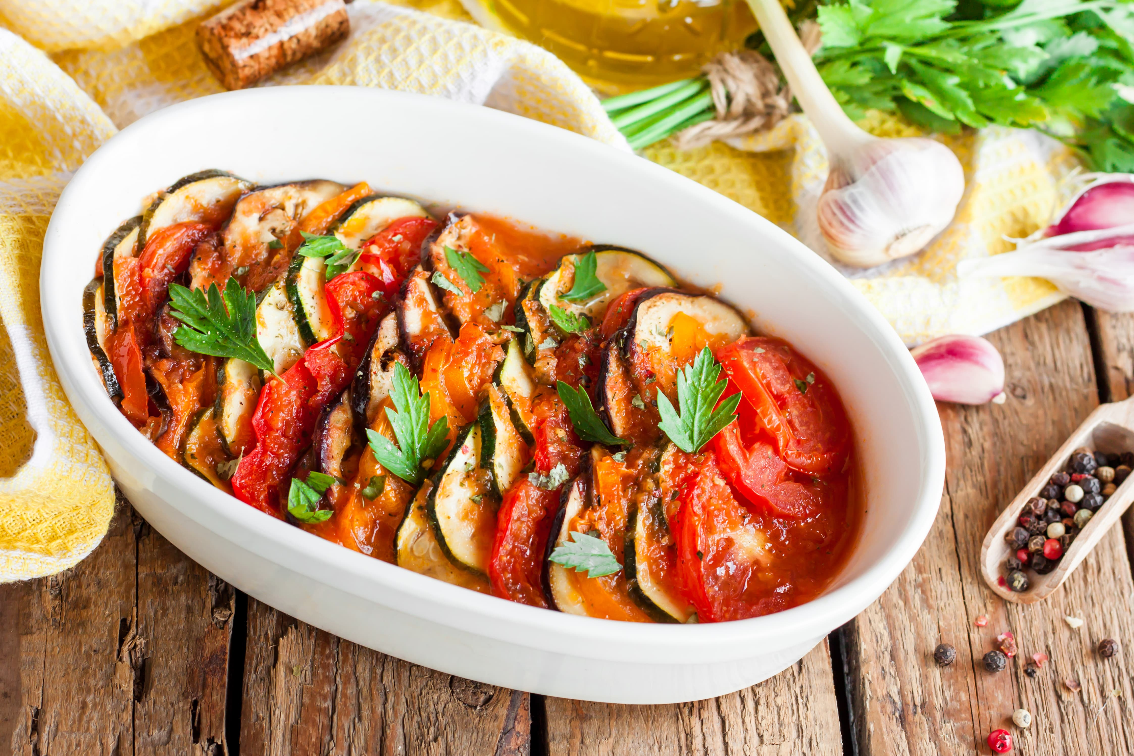 Zapiekanka z bakłażana i pomidorów